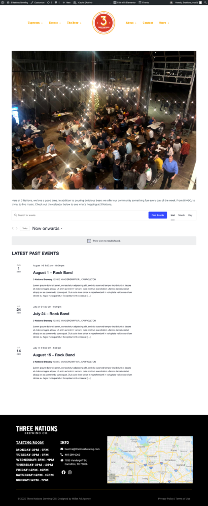 events plugin